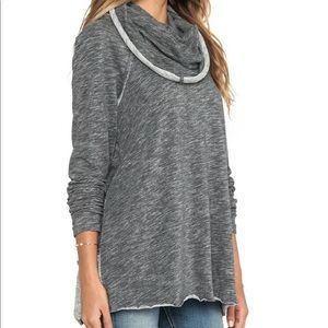 Free People | Beach Cowl Neck OS Heather Gray
